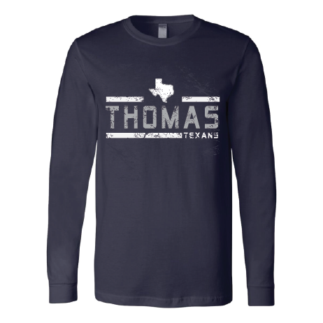 Thomas Texans - Striped Long Sleeve T-Shirt