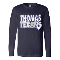 Thomas Texans - Stripes & Dots Long Sleeve T-Shirt