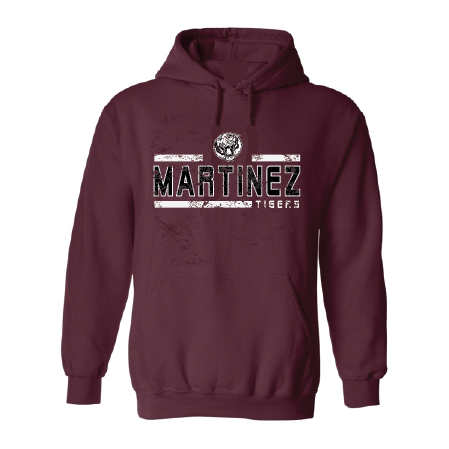 Martinez Tigers - Striped Hoodie