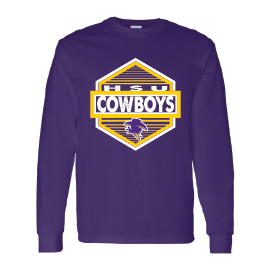 Hardin Simmons University Cowboys - Hexagon Long Sleeve T-Shirt
