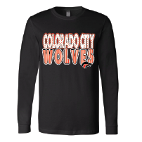 Colorado City Wolves - Stripes & Dots Long Sleeve T-Shirt