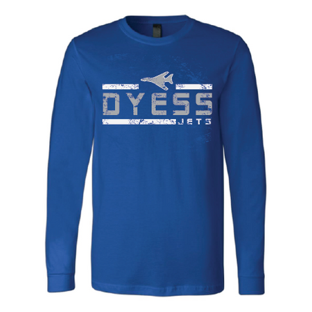 Dyess Jets - Striped Long Sleeve T-Shirt