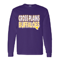 Cross Plains Buffaloes - Stripes & Dots Long Sleeve T-Shirt