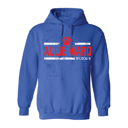 Allie Ward Wildcats - Striped Hoodie