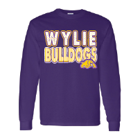Wylie Bulldogs - Stripes & Dots Long Sleeve T-Shirt