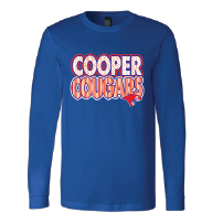 Cooper Cougars - Stripes & Dots Long Sleeve T-Shirt