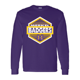 Merkel Badgers - Hexagon Long Sleeve T-Shirt