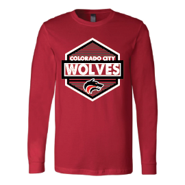 Colorado City Wolves - Hexagon Long Sleeve T-Shirt