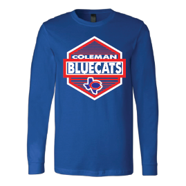 Coleman Bluecats - Hexagon Long Sleeve T-Shirt