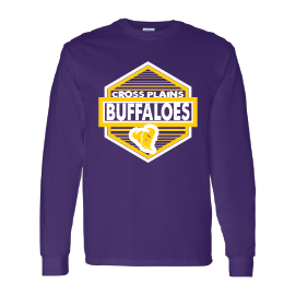 Cross Plains Buffaloes - Hexagon Long Sleeve T-Shirt