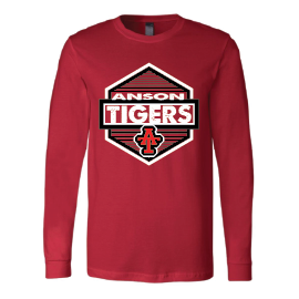 Anson Tigers - Hexagon Long Sleeve T-Shirt