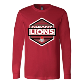 Albany Lions - Hexagon Long Sleeve T-Shirt