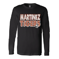 Martinez Tigers - Stripes & Dots Long Sleeve T-Shirt