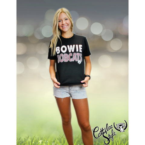 Bowie Bobcats - Stripes & Dots T-Shirt