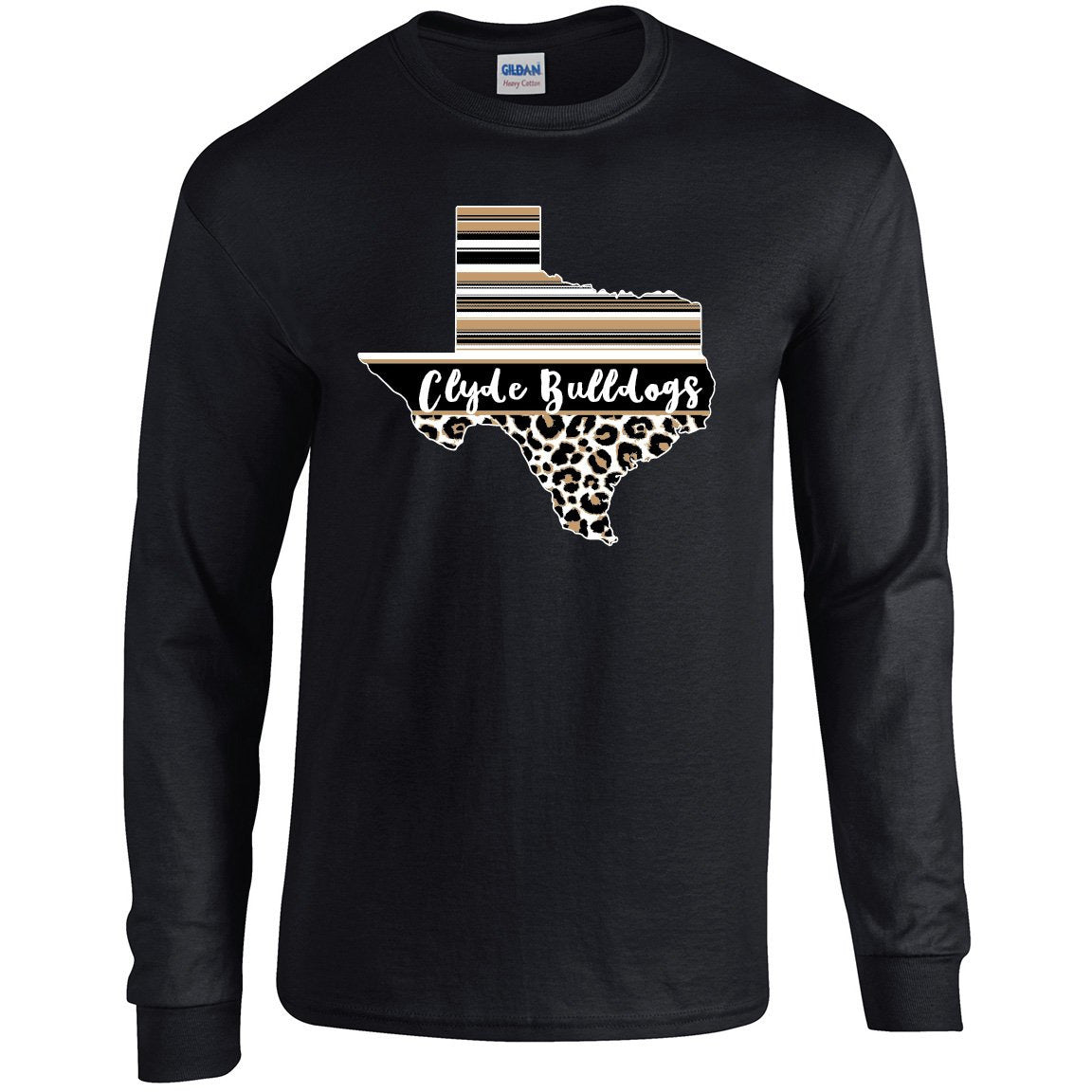 Clyde Bulldogs - Texas Serape Long Sleeve T-Shirt