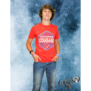 Cooper Cougars - Hexagon T-Shirt