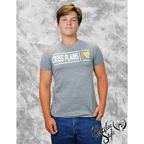 Cross Plains Buffaloes - Simple Stripe T-Shirt