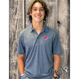 Cooper Cougars - Heather Polo Shirt