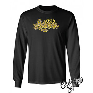 Cisco Loboes - Animal Print Script Long Sleeve T-Shirt