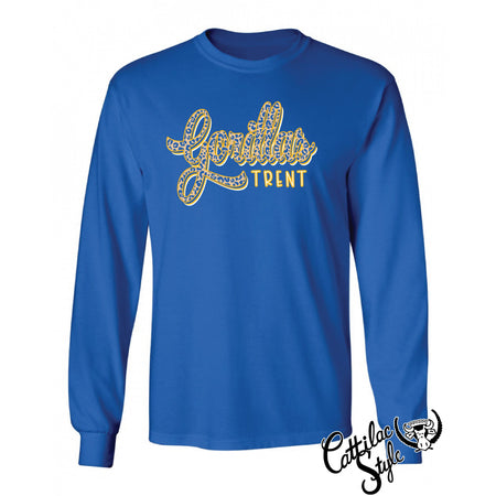Trent Gorillas - Animal Print Script Long Sleeve T-Shirt