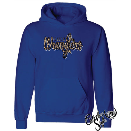 Cisco College Wranglers - Animal Print Script Hoodie