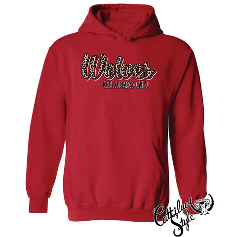 Colorado City Wolves - Animal Print Script Hoodie