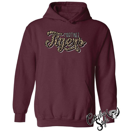 Martinez Tigers - Animal Print Script Hoodie