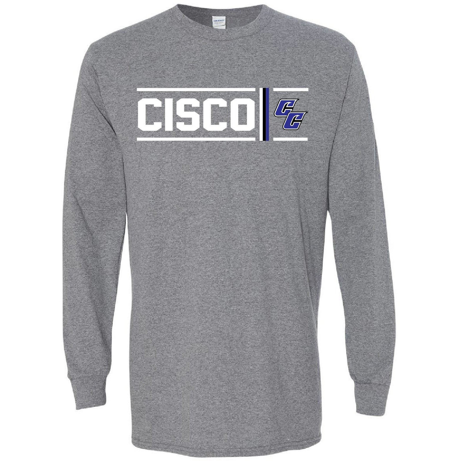 Cisco College Wranglers - Simple Stripe Long Sleeve T-Shirt