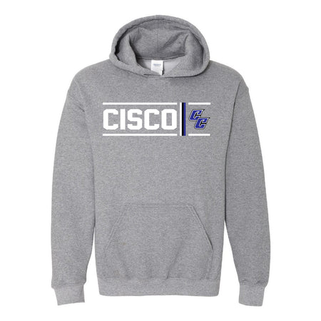Cisco College Wranglers - Simple Stripe Hoodie