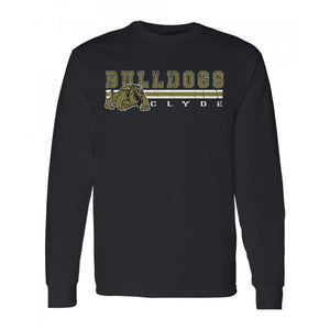 Clyde Bulldogs - Stripe Long Sleeve T-Shirt