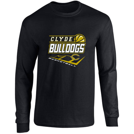 Clyde Bulldogs - Basketball Long Sleeve T-Shirt