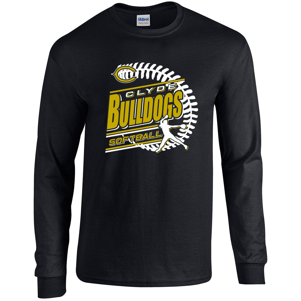 Clyde Bulldogs - Softball Long Sleeve T-Shirt