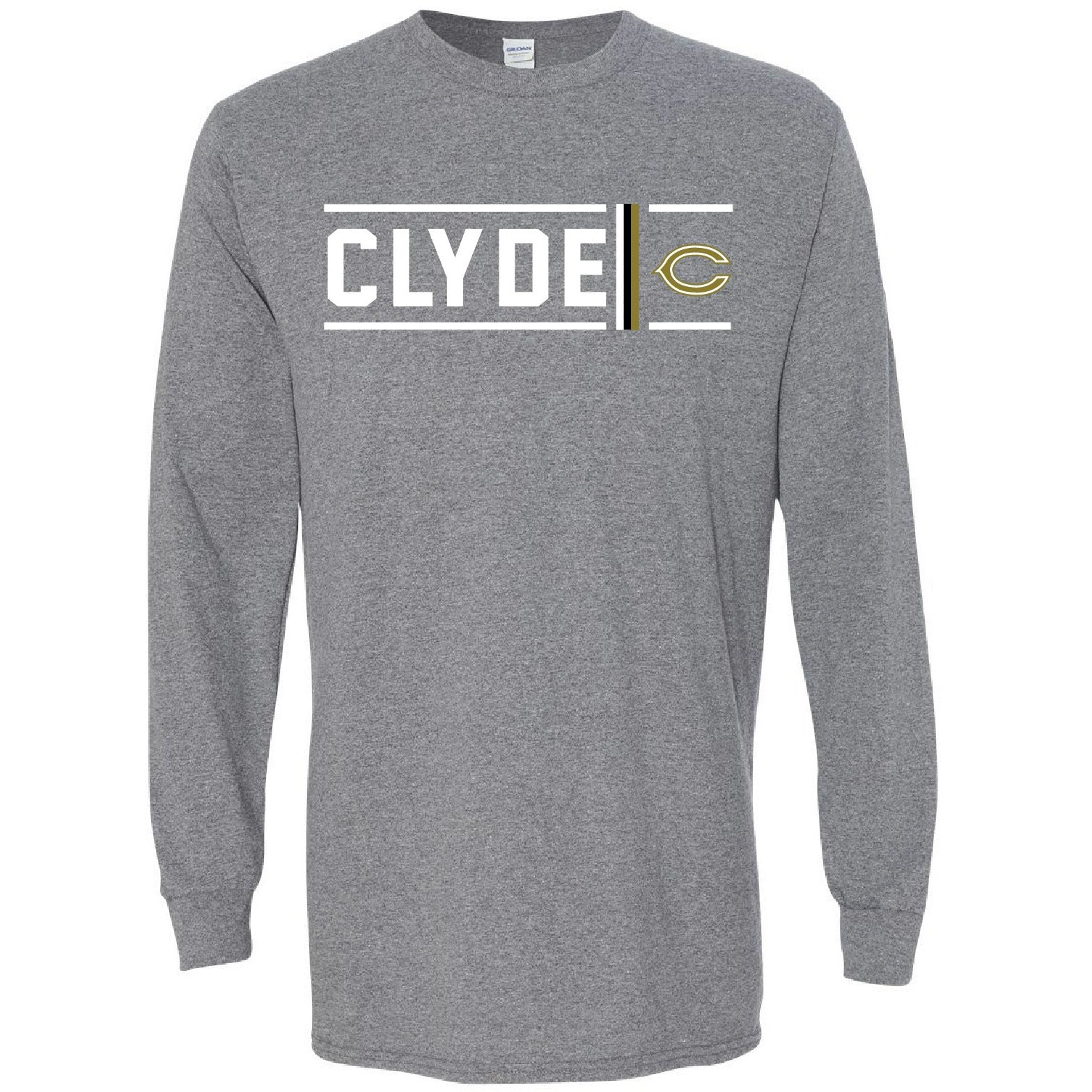 Clyde Bulldogs - Simple Stripe Long Sleeve T-Shirt