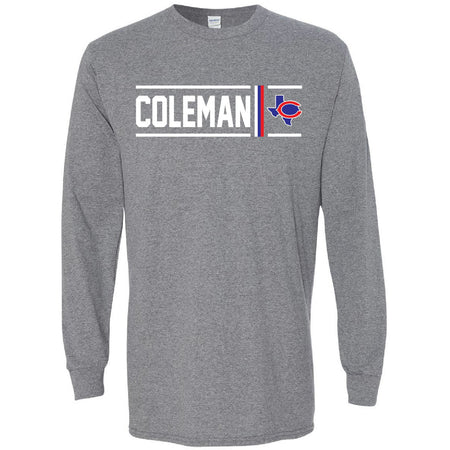 Coleman Bluecats - Simple Stripe Long Sleeve T-Shirt