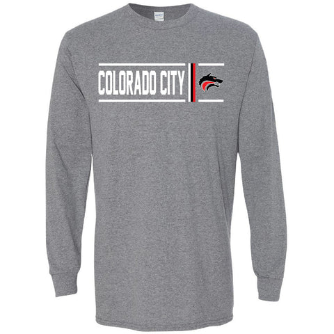 Colorado City Wolves - Simple Stripe Long Sleeve T-Shirt