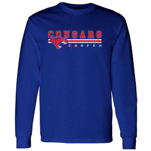 Cooper Cougars - Stripe Long Sleeve T-Shirt