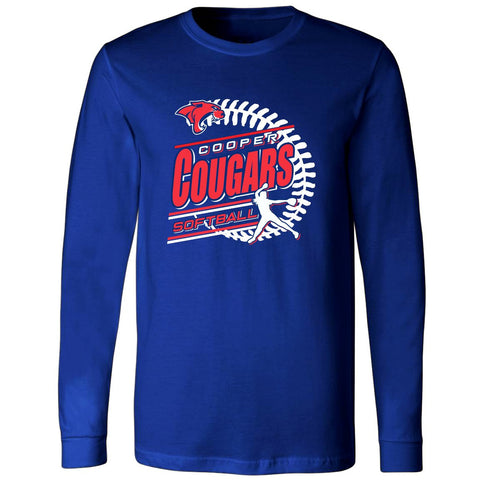 Cooper Cougars - Softball Long Sleeve T-Shirt