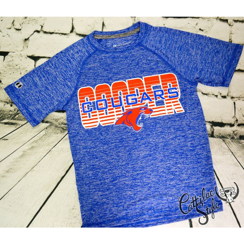 Cooper Cougars - Heather Wicking T-Shirt