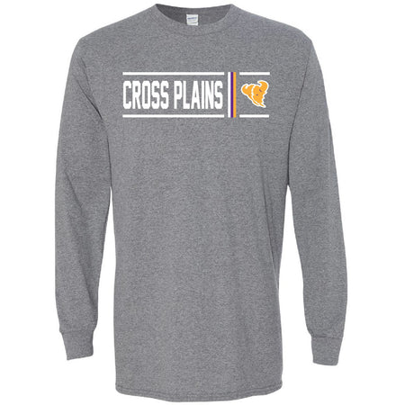 Cross Plains Buffaloes - Simple Stripe Long Sleeve T-Shirt