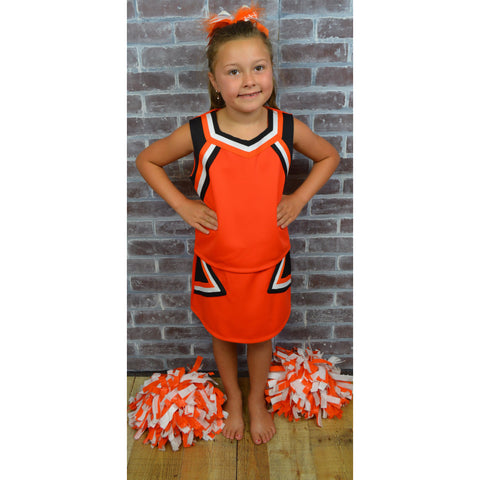 Orange, Black & White Cheer Suit