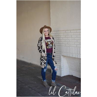 Elizabeth Animal Print Cardigan