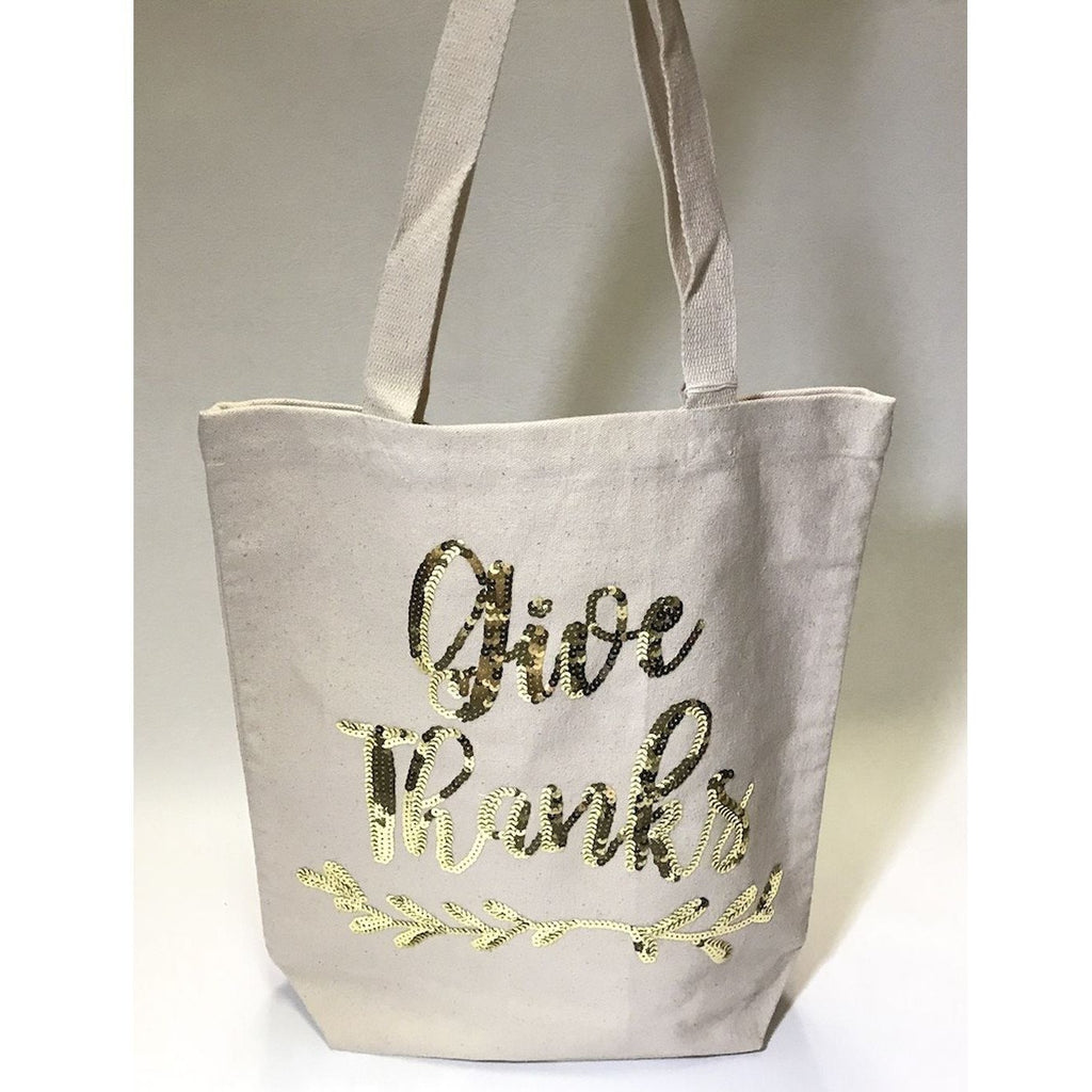 Give Thanks Canvas Tote