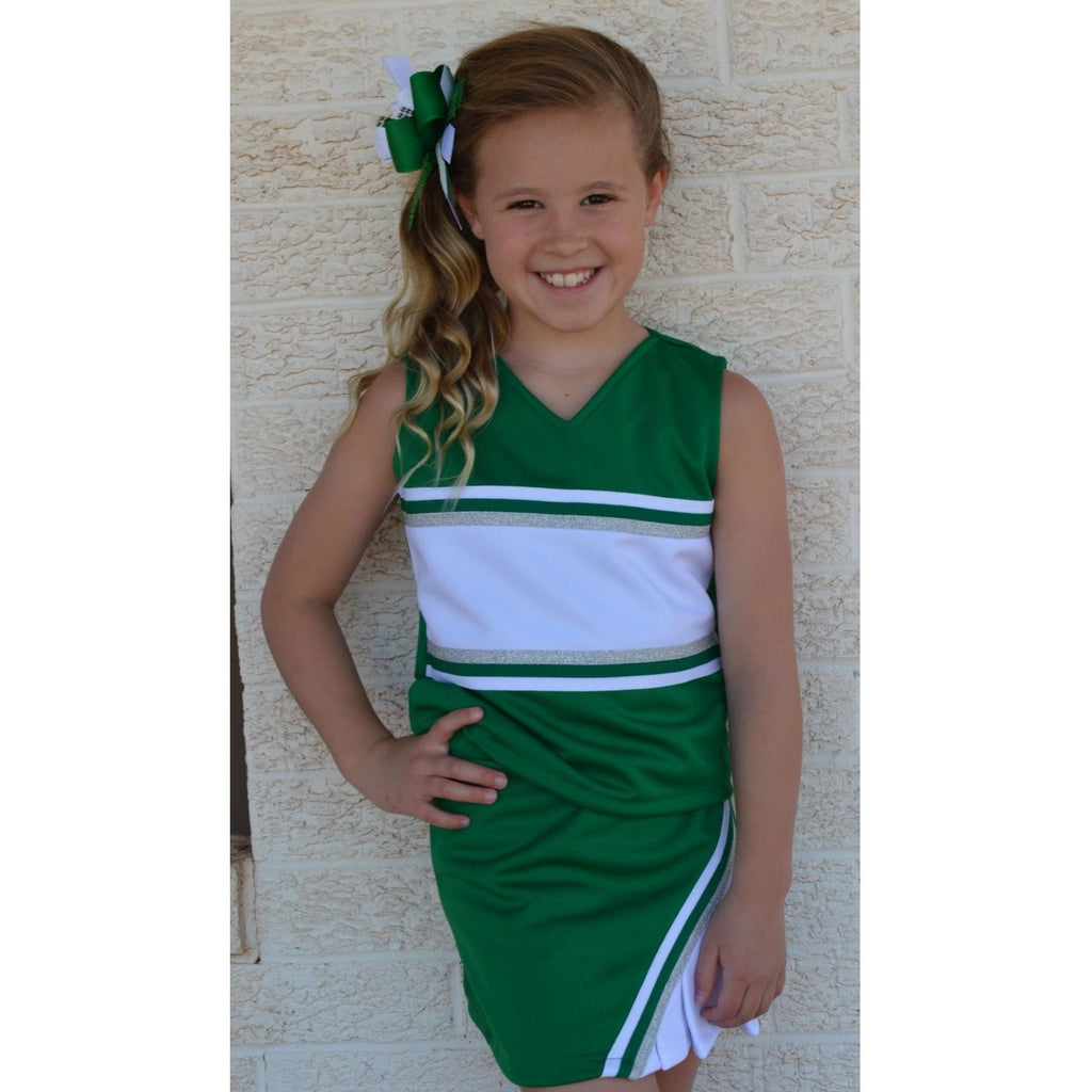 Green & White Cheer Suit