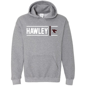 Hawley Bearcats - Simple Stripe Hoodie