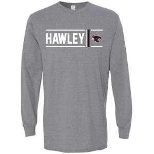Hawley Bearcats - Simple Stripe Long Sleeve T-Shirt