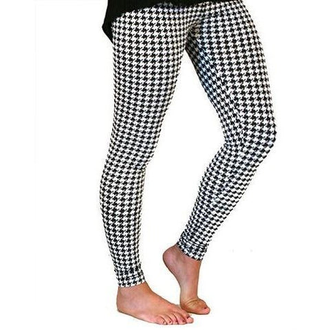 Black & White Houndstooth Leggings