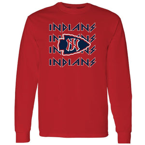 Jim Ned Indians - Rock N Roll Long Sleeve T-Shirt