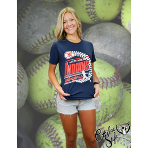 Jim Ned Indians - Softball T-Shirt