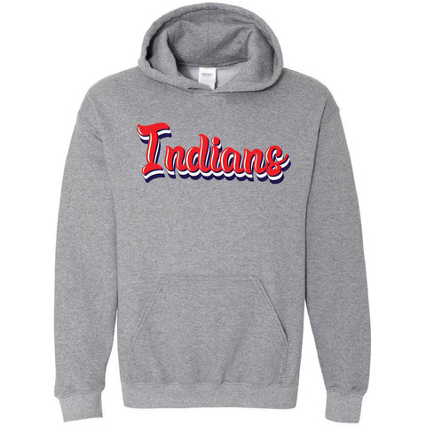 Jim Ned Indians - Retro Hoodie