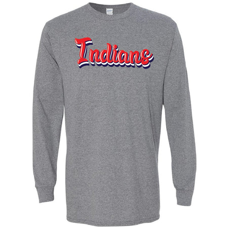 Jim Ned Indians -Retro Long Sleeve T-Shirt